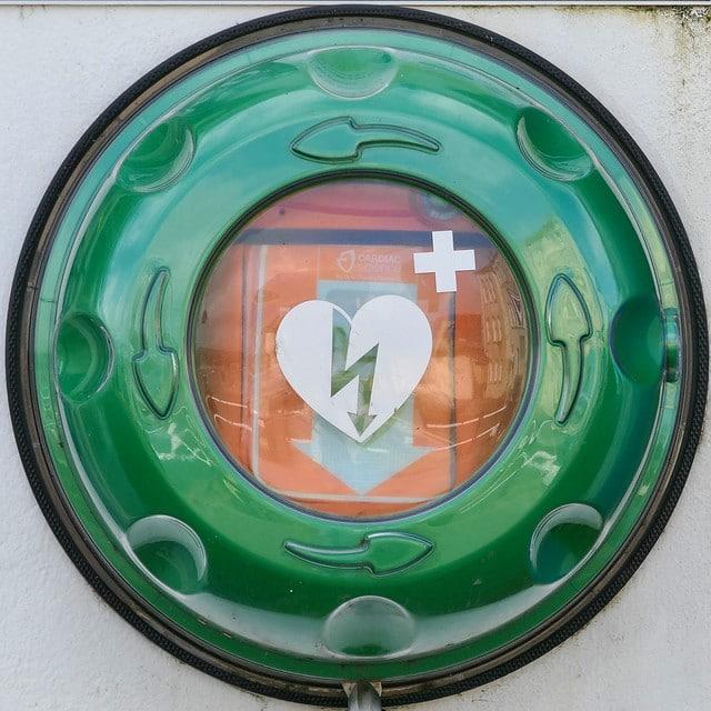 Finding a defibrillator