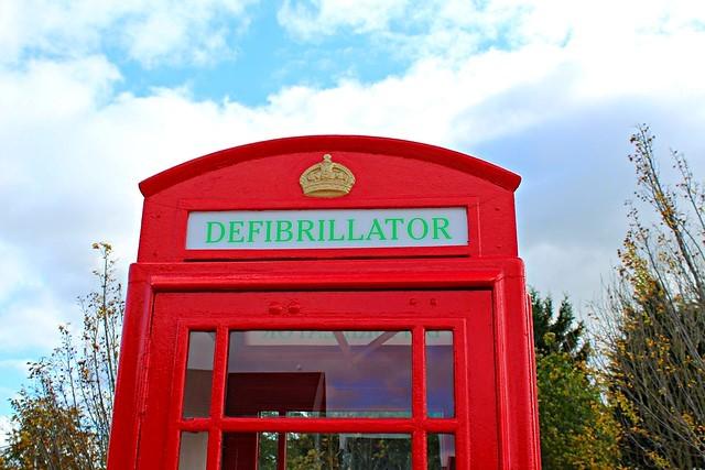 defibrillator telephone box